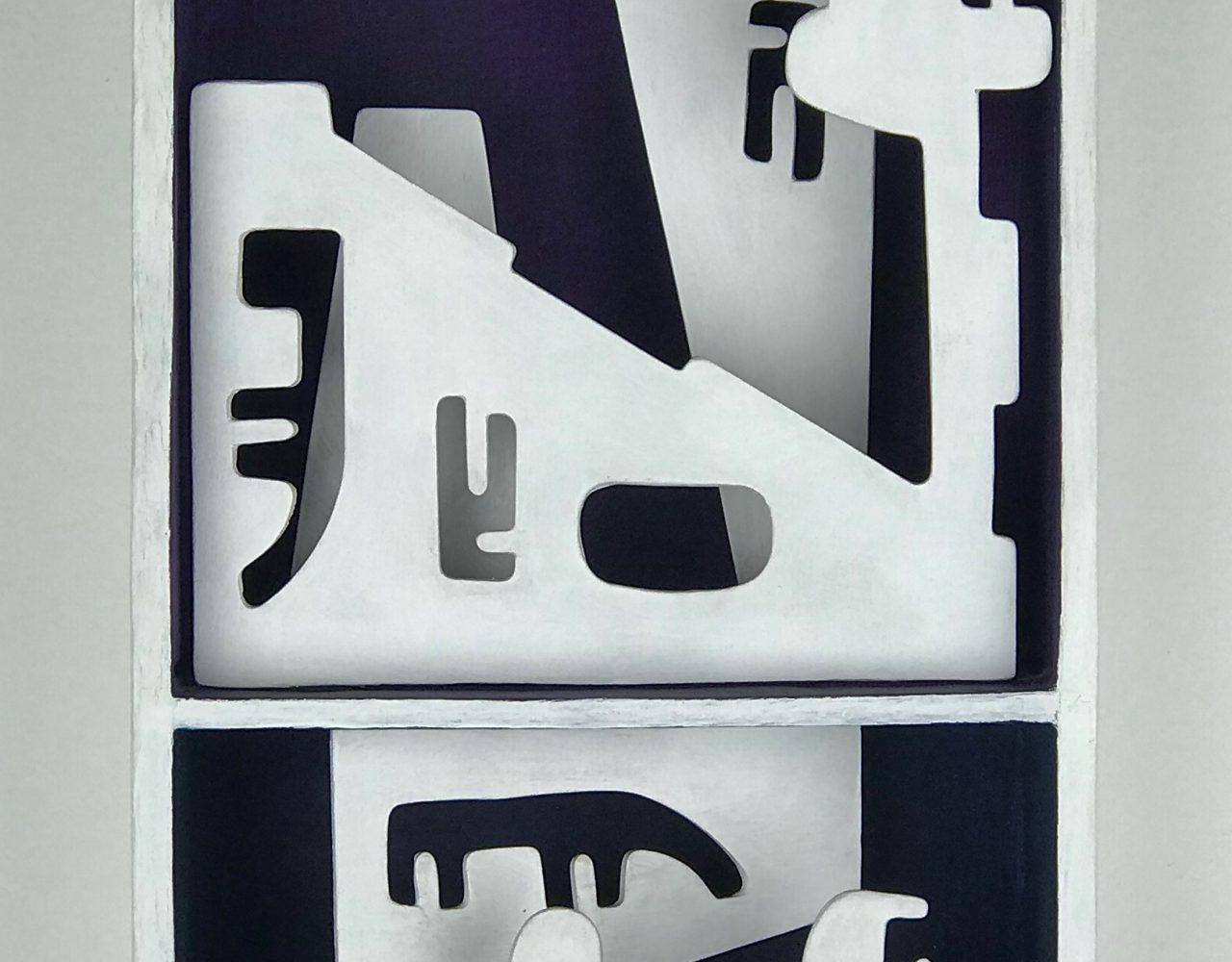 PAISAGEM URBANA / Acrílica sobre madeira </br> <em>URBAN LANDSCAPE / Acrylic on wood</em> </br> 21 x  14 x 5 cm </br> 2014