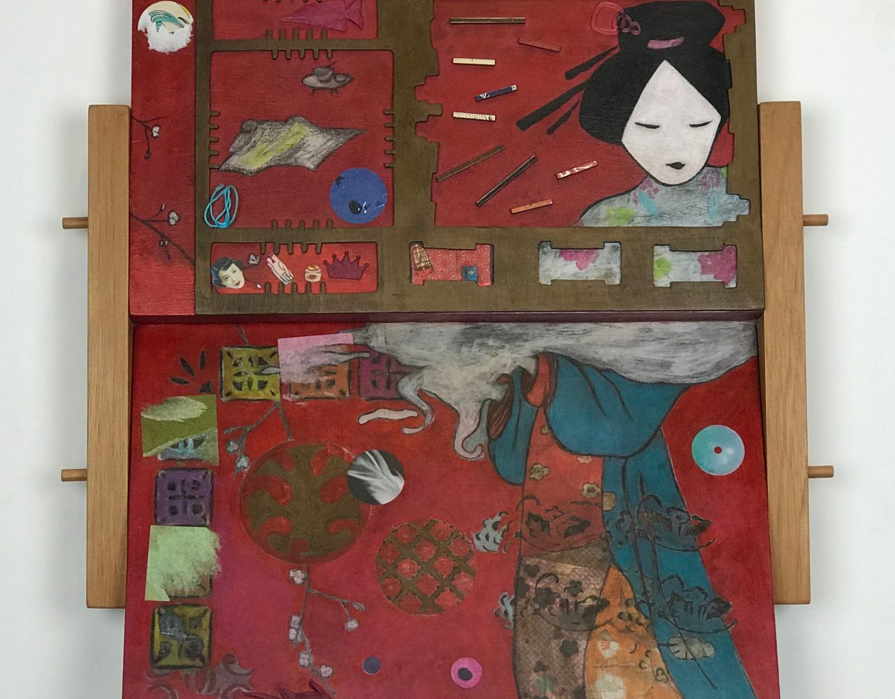 JAPONESISMOS / Técnica mista sobre madeira </br>