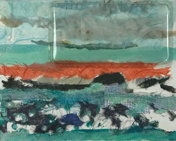 ENTARDECERES 1 / Colagem com papel washi </br>