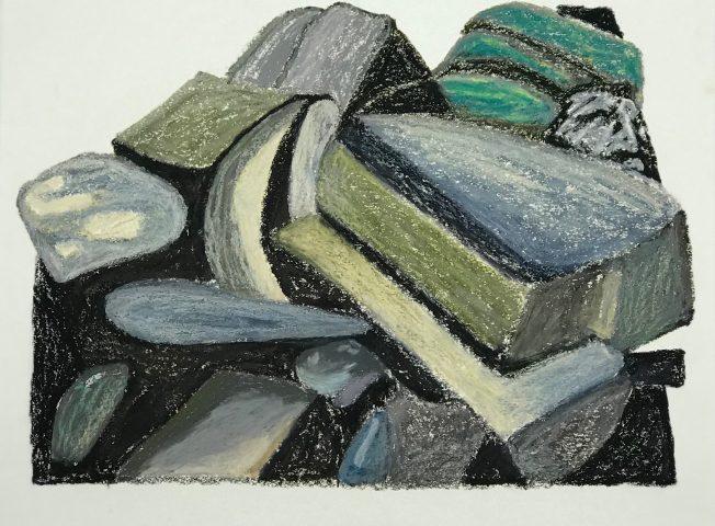 S/ TÍTULO / Óleo sobre papel </br> <em>UNTITLED / Oil on paper</em> </br> 56 x 42 cm </br> 2017