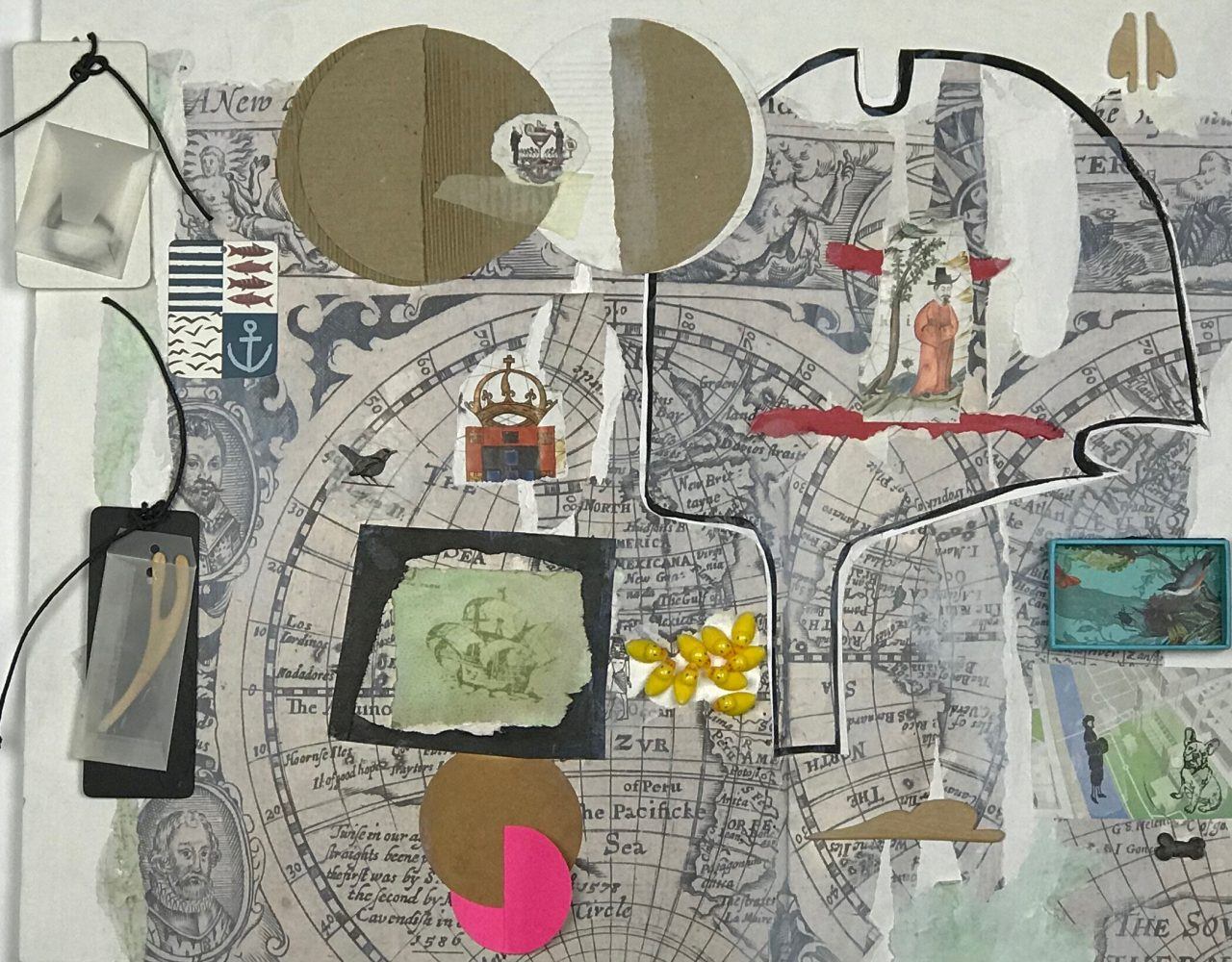 NO MAPA 2 / Técnica mista sobre papel </br>